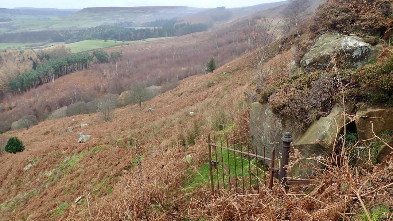 Rusty gate, Battersby Crag