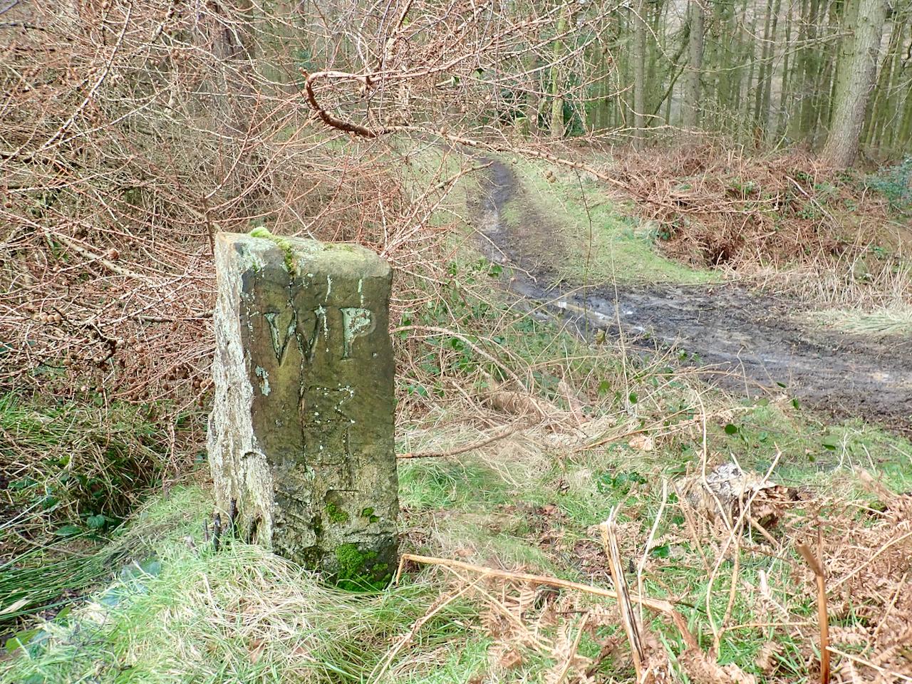 'WP' Boundary Stone
