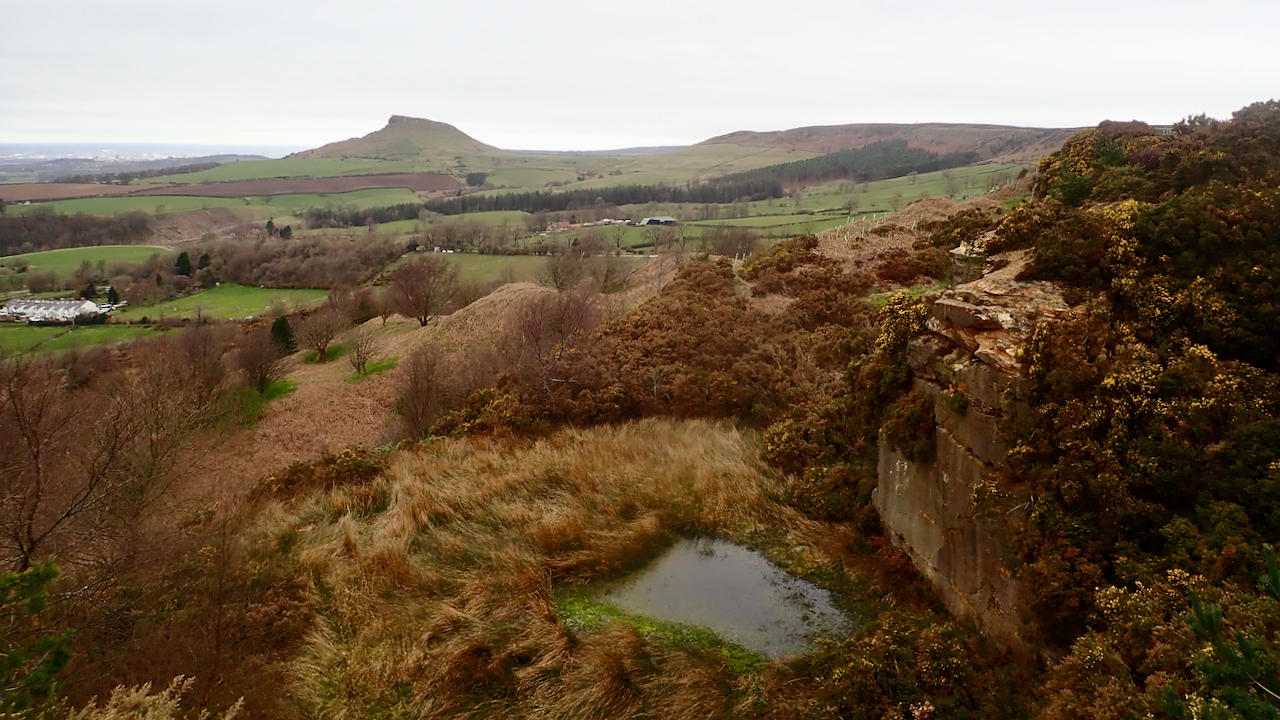 Roseberry from Cockshaw Quarry