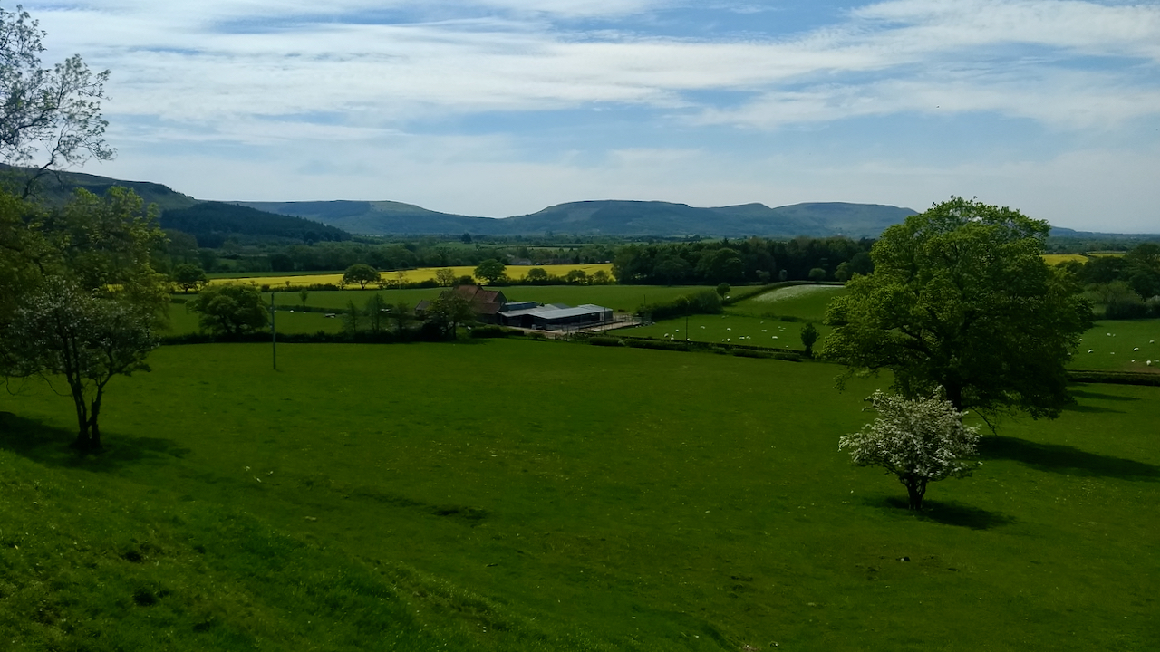 The Cleveland Hills from Low Farm